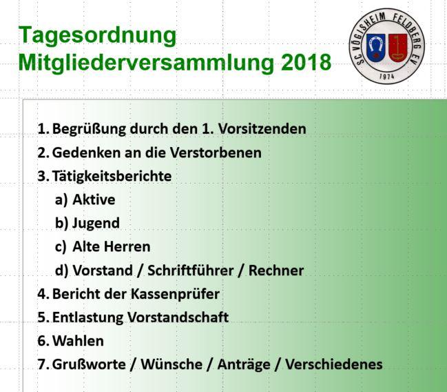 Mitgliederversammlung 2018 – Neuwahlen 1. Vorstand